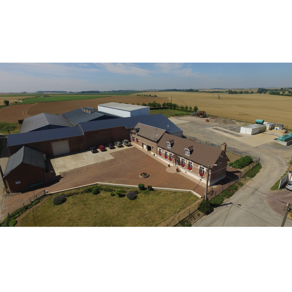 Photo aérienne de l'exploitation agricole -Vue aérienne de la ferme